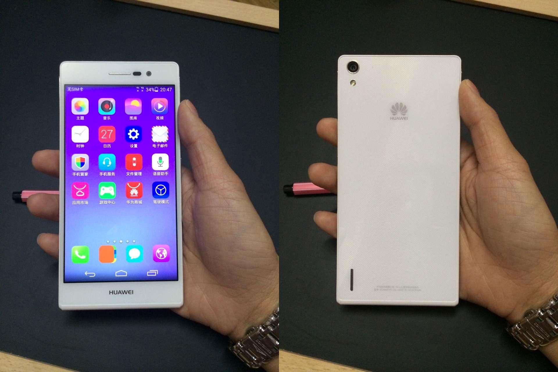 Das neue Design des Ascend P7 von Huawei
