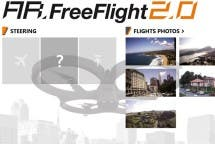 FreeFlight Hauptmenü