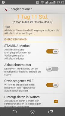 Sony Xperia Z2 Screenshot Stamina 1