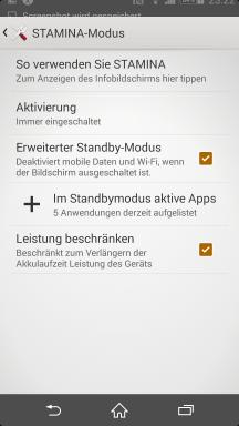 Sony Xperia Z2 Screenshot Stamina 2