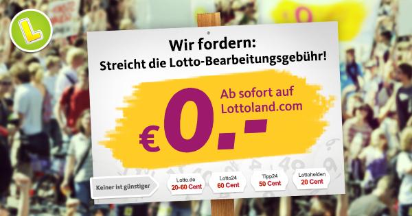 Lottoland Tippscheingebühren