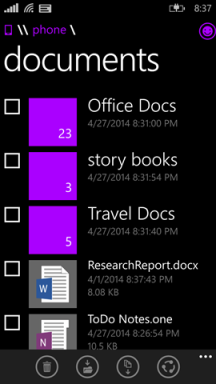 Screenshot File Manager Windows Phone 8.1