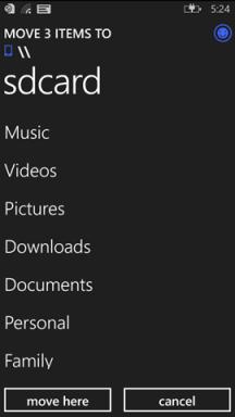 Screenshot File Manager Windows Phone 8.1