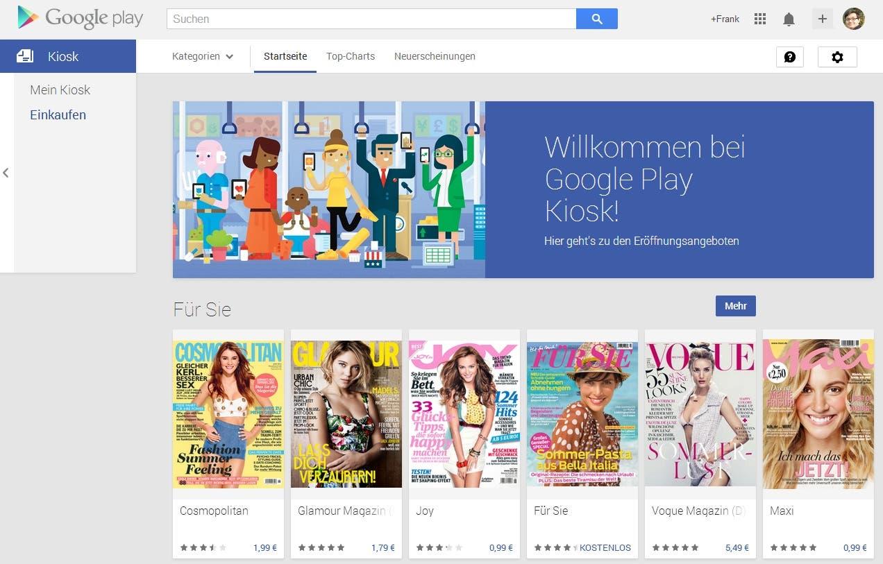 Google Play Store ab sofort mit Zeitschriften