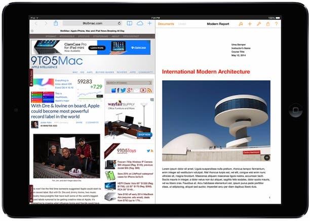 iOS 8 könnte Multitasking-Splitscreen auf iPad bringen