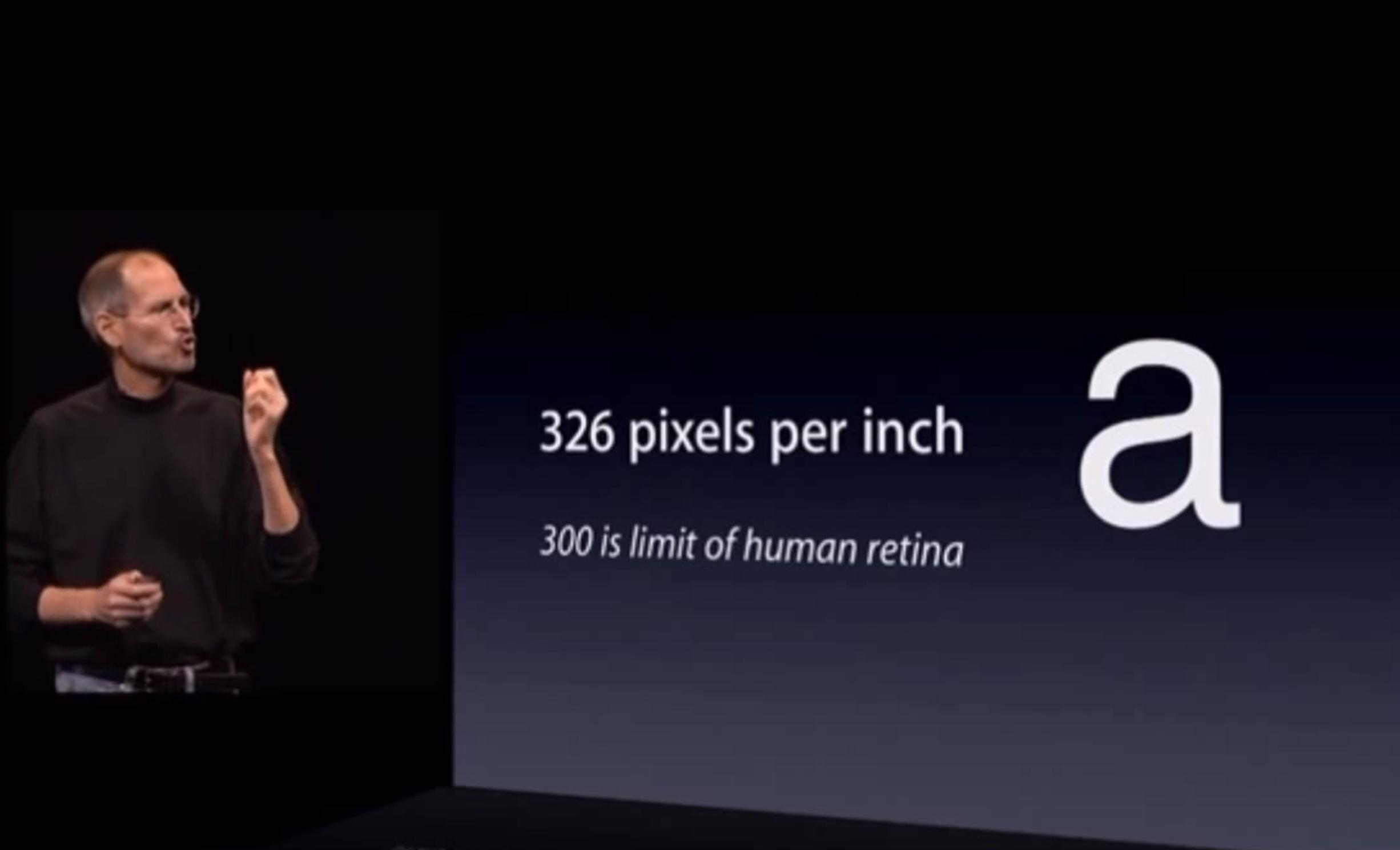 Steve Jobs Retina Keynote