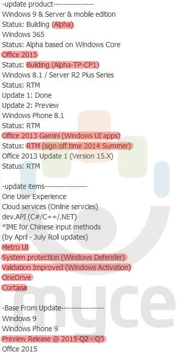 Windows Phone 9 Preview