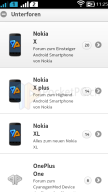Screenshot Nokia X