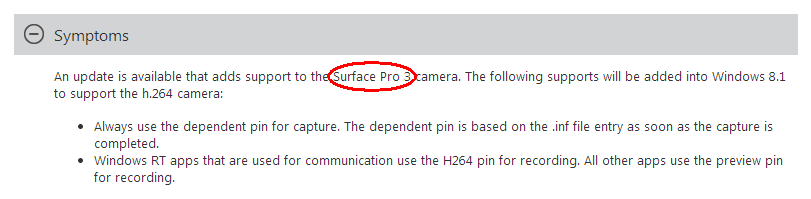 Surface Pro 3 Support