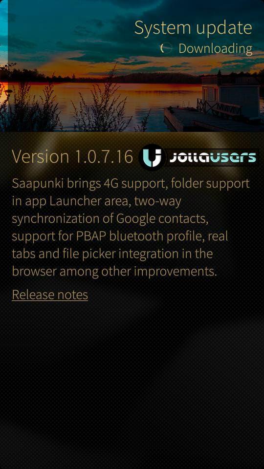 Jolla Update Sailfish OS