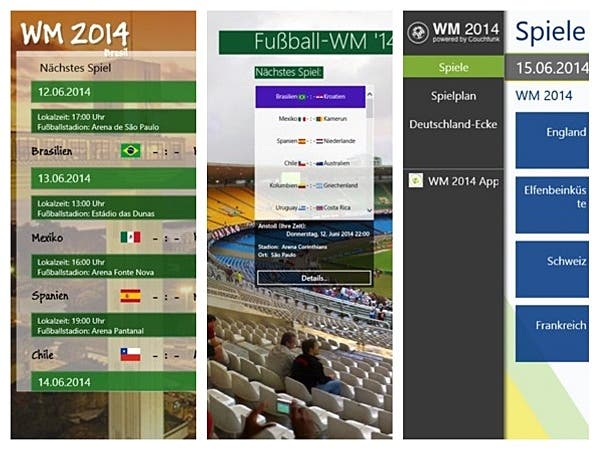Apps Fussballweltmeisterschaft Windows