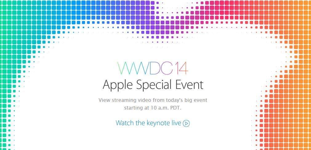 Apple WWDC 2014 Keynote Banner