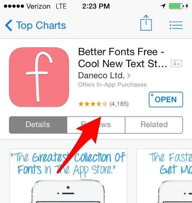 Fake Bewertung in Apple App-Store gelöscht