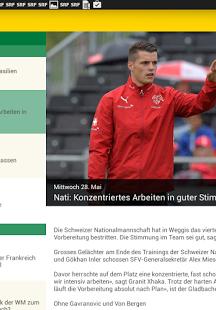 SRF FIFA WM 2014 App