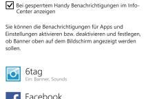 Benachrichtigungen Windows Phone 8.1