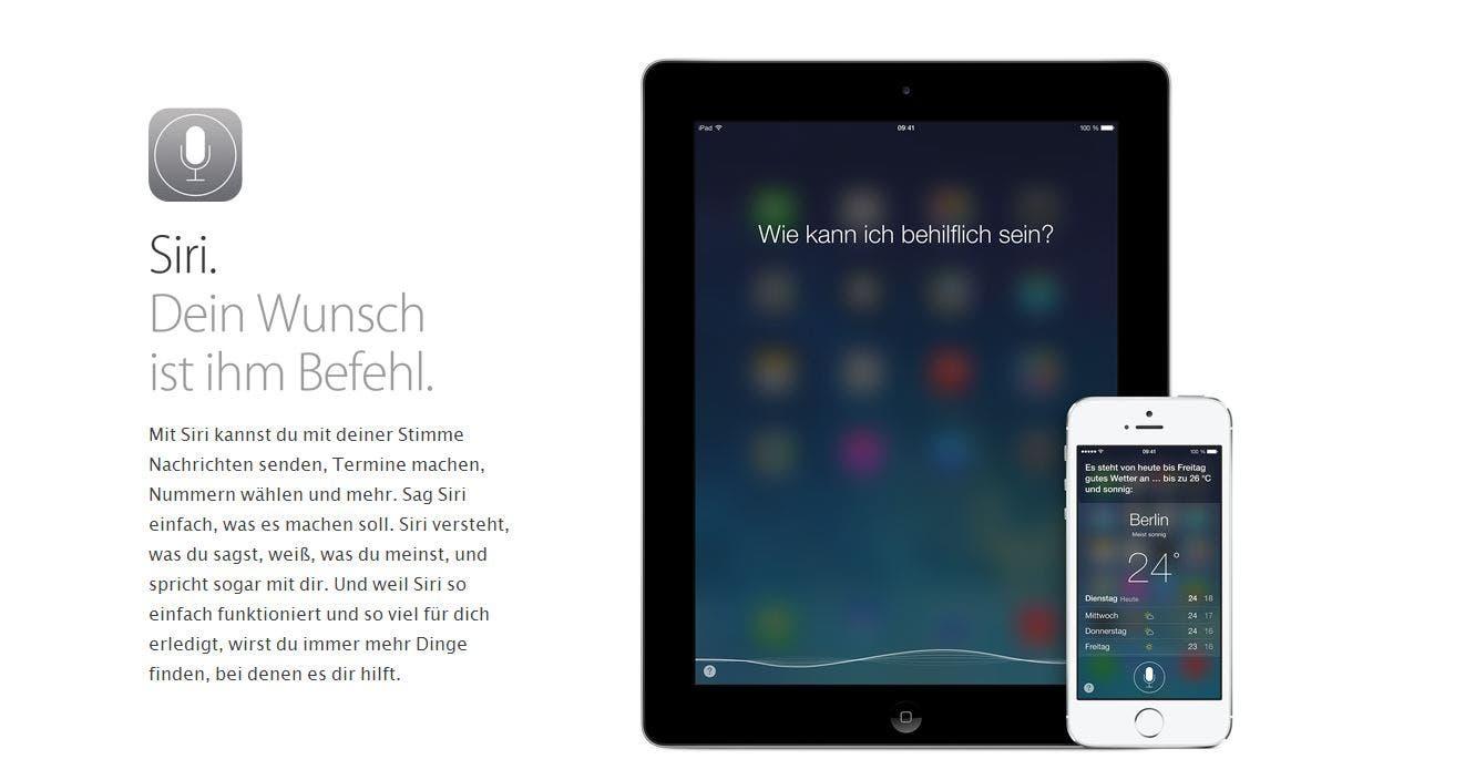 Apple Siri für iOS 7