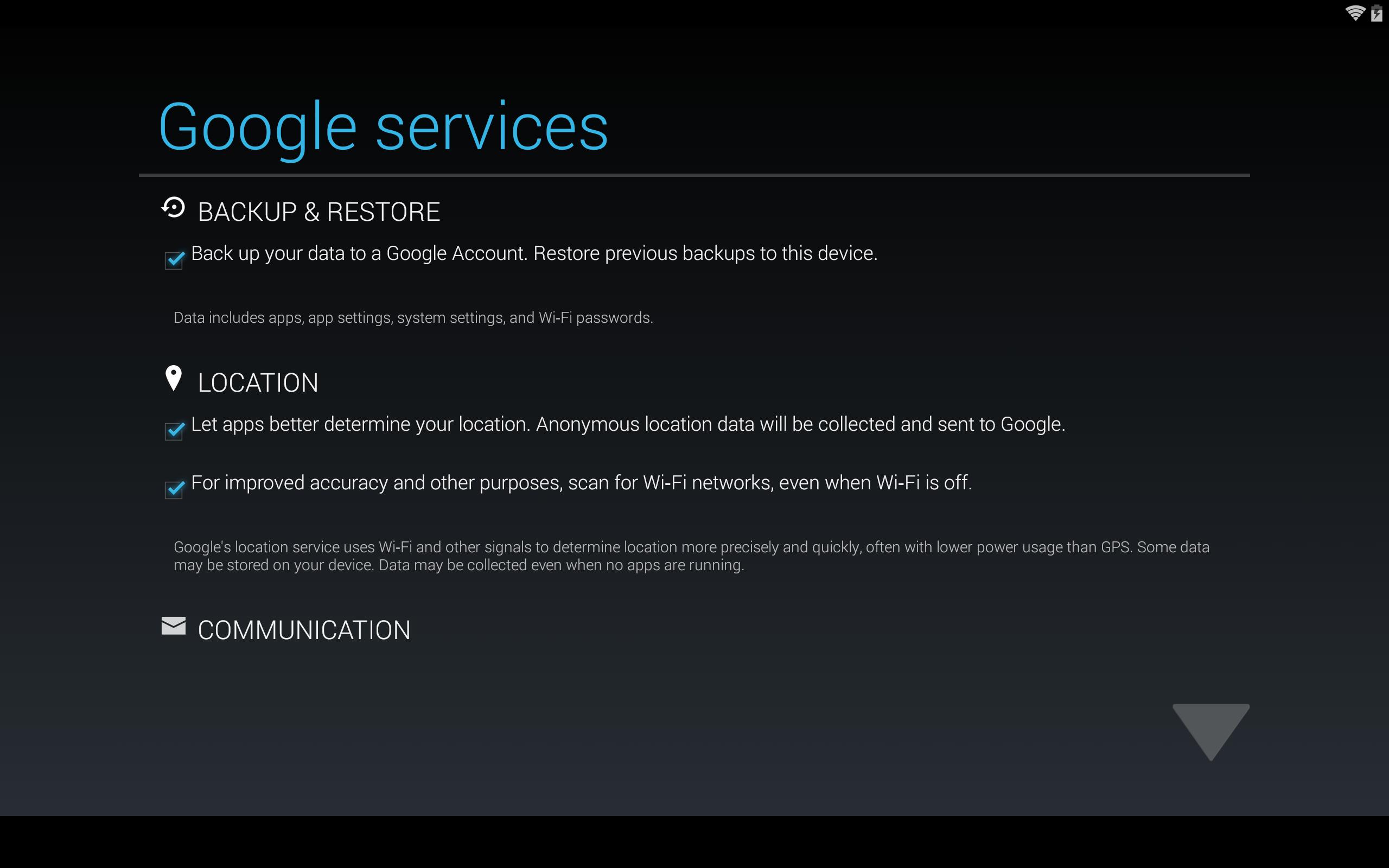 Google Backup Playstore