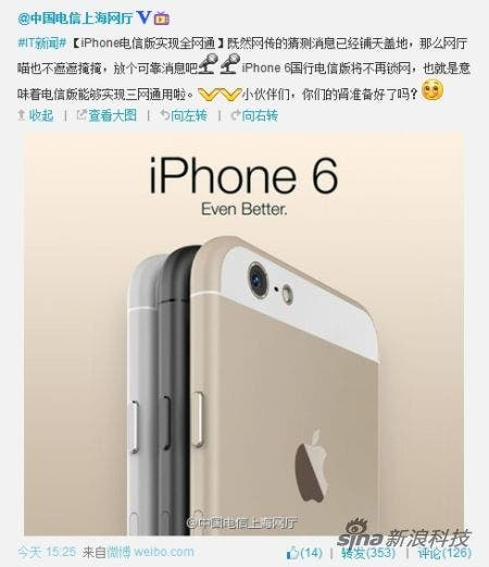 iPhone 6 in China geleakt
