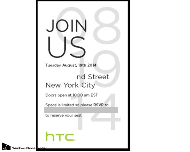 HTC Einladung Presse