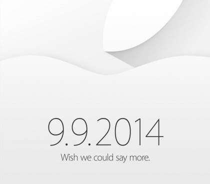 Apple Keynote September 2014
