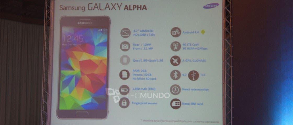 Samsung Galaxy Alpha Brasilien Keynote