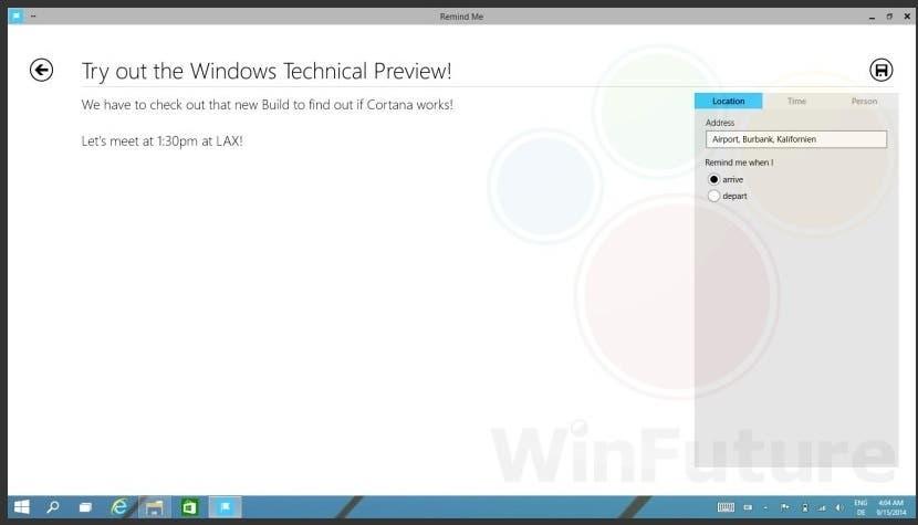 Cortana für Windows 9