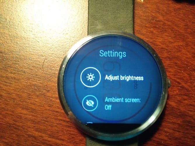 Eingebranntes Display Moto 360