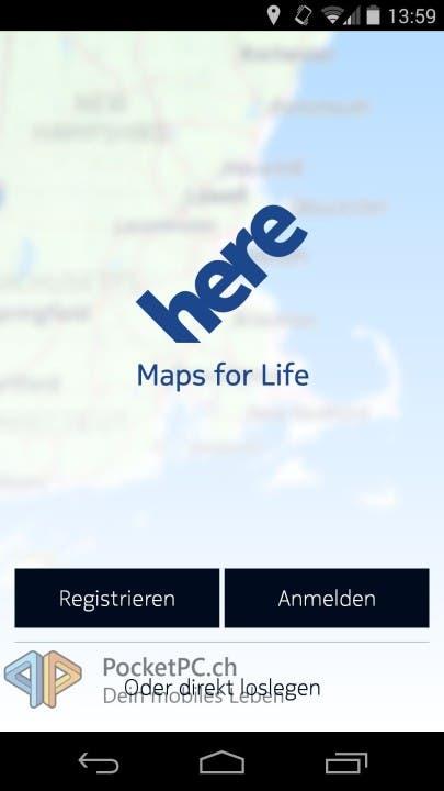 HERE Maps Beta für Android