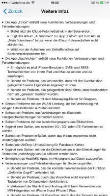 iOS 8.1 Update-Benachrichtigung