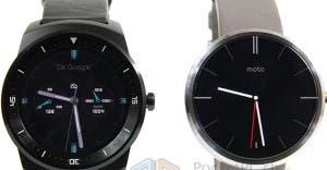 Motorola Moto 360 und LG G Watch R im Vergleich