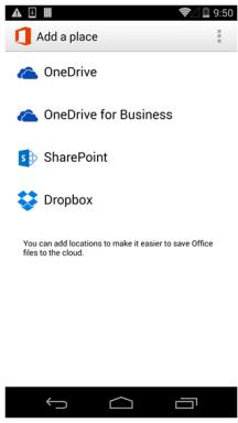 Office Mobile für Android mit Dropbox Integration