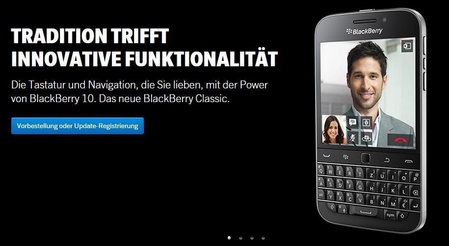 Blackberry Classic Vorbestellung