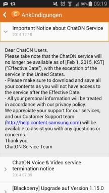 Samsung ChatOn Ankündigung
