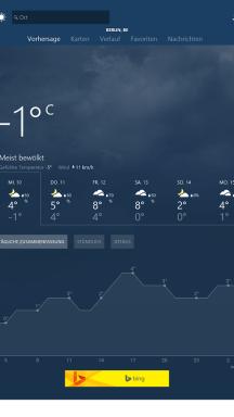 MSN Wetter App