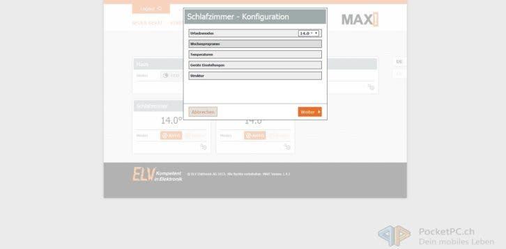 Max Internetsteuerung