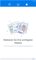 Dropbox für Windows Phone Screenshot