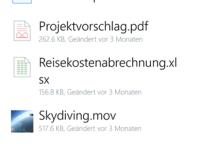 Dropbox für Windows Phone