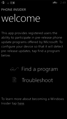Phone Insider App Windows Phone