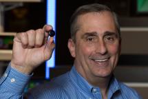 Intel Curie in der grösse eines Hemdknopfes