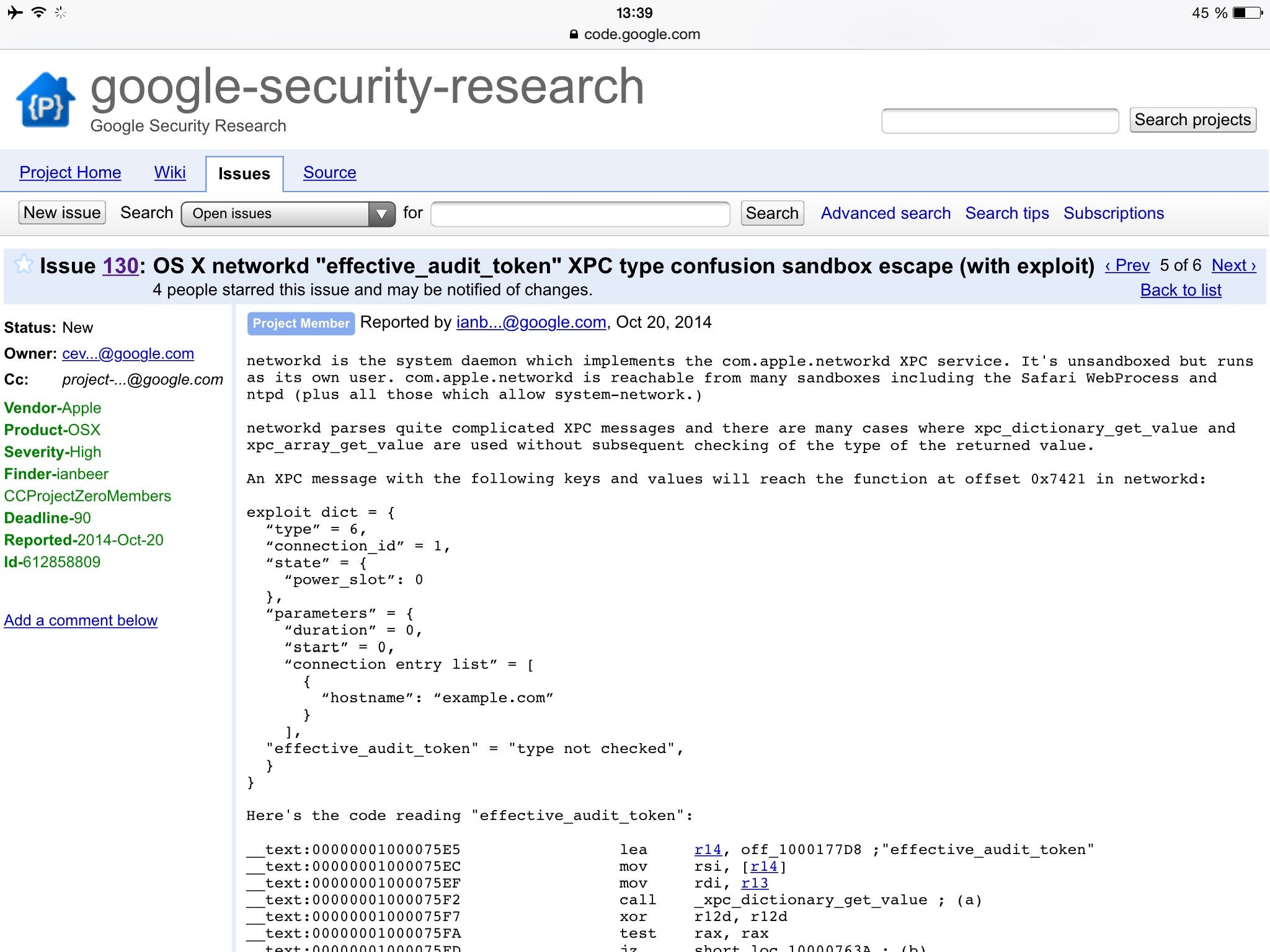 Google Security Mac OS X
