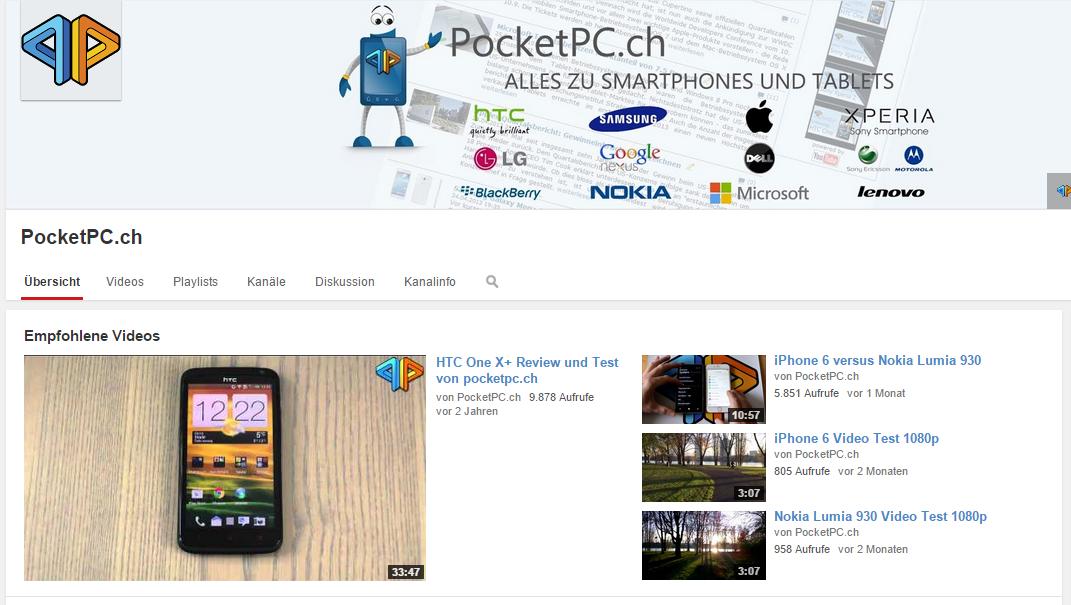 PocketPC.ch auf YouTube