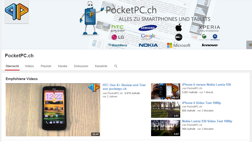 PocketPC.ch auf YouTube