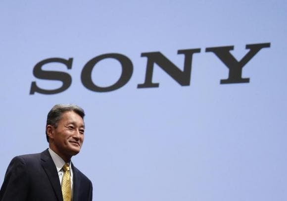 Sony Corp President and CEO Hirai attends an investors' conference at the company's headquarters in Tokyo