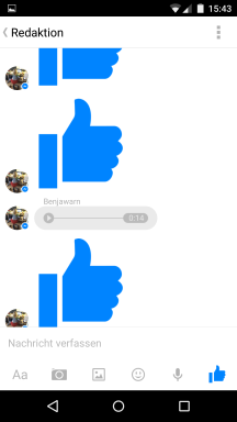 Facebook Messenger in Kinderhänden