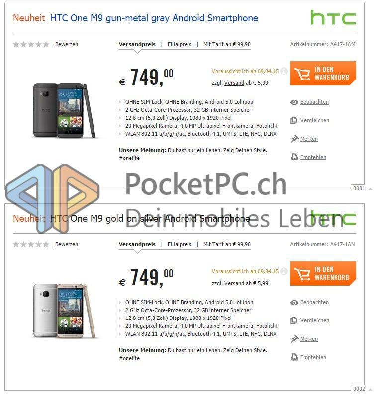 HTC One M9 bei Cyperport