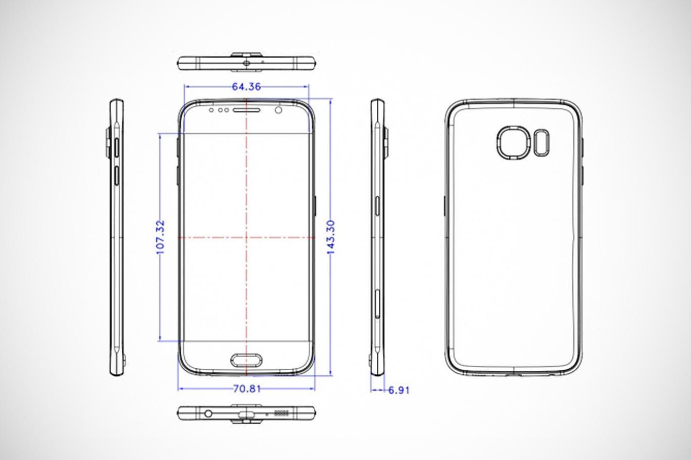 Samsung Galaxy S6 Skizzen