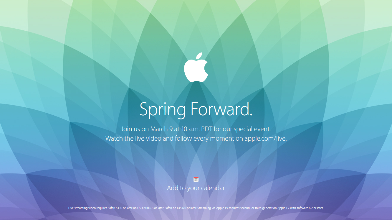 Spring Forwad Event Apple