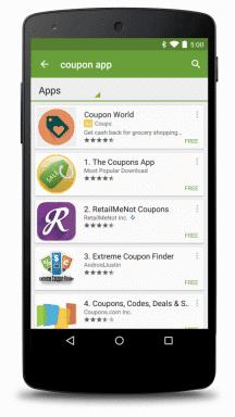 Werbung in Play Store App