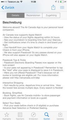 Air Canada App für Apple Watch