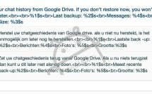 WhatsApp Google Drive Cloud Backup